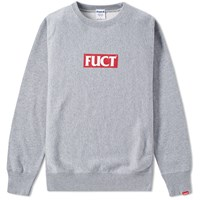 Fuct Ssdd Red Logo Crew Sweat Grey