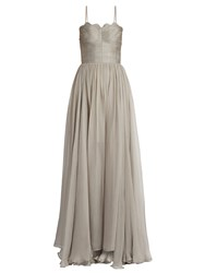 Maria Lucia Hohan Marianne Laced Back Silk Gown Grey