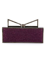 Sara Battaglia 'Lady Me Red Carpet' Clutch Pink And Purple