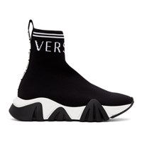 Versace Black Logo Sock Sneakers