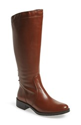 Women's Andre Assous 'Saddle Up' Waterproof Riding Boot Cognac Leather