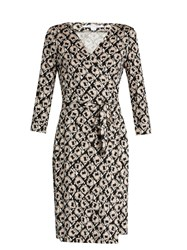 Diane Von Furstenberg New Julian Two Dress Black Beige