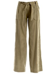 Max Studio Wide Leg Trousers Olive
