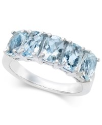 Macy's Aquamarine Ring 2 3 4 Ct. T.W. In Sterling Silver Blue