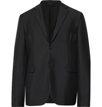 Acne Studios Black Antibes Unstructured Wool And Mohair Blend Blazer