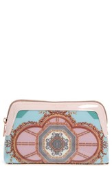 Ted Baker London Dona Versailles Print Cosmetics Case Teal