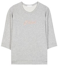 Chloe Embroidered Sweatshirt Grey