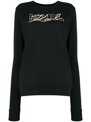 Karl Lagerfeld Double Logo Sweatshirt Black