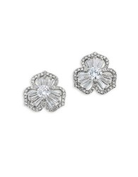 Carolee Something Borrowed Cubic Zirconia Stud Pierced Earrings Silver