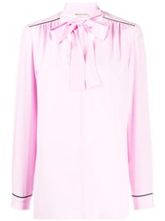 Emilio Pucci Piped Trims Long Sleeves Blouse 60