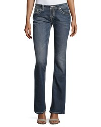 Miss Me Mid Rise Boot Cut Denim Jeans Medium Wash 194