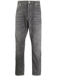 Brunello Cucinelli Tapered Jeans Grey