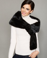 The Fur Vault Pull Though Mink Fur Stole Ranch