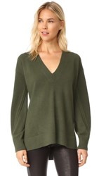Rag And Bone Ace Cashmere V Neck Sweater Green