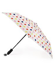 Shedrain Multicolored Polka Dot Auto Open Umbrella White Multi