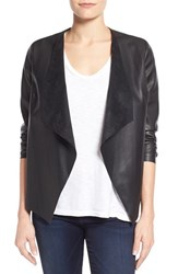 Women's Kut From The Kloth 'Mira' Lace Back Faux Leather Jacket