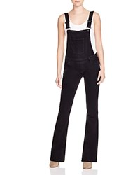 Paige Denim Tavie Flare Overalls In Raven Black