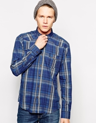Dansk Shirt With Check In Western Style Blue