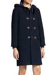 Marc By Marc Jacobs Paddington Hooded Toggle Coat Normandy Blue