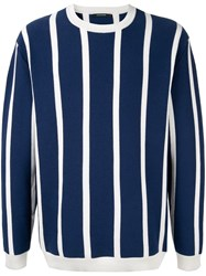 Guild Prime Striped Fitted Sweater Blue