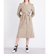 J.W.Anderson Cross Collar Poplin Trench Coat Taupe