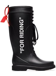 Off White For Riding Wellington Boots Black