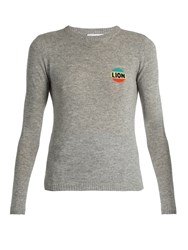 Bella Freud Lion Cashmere Blend Sweater Grey Multi