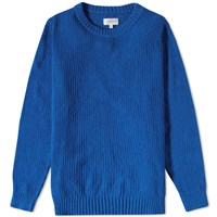 Gant Rugger Textured Crew Knit Blue