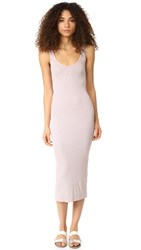 Enza Costa Ribbed Tank Dress Beige Lilac