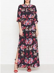 Kenzo Antonio's Flower Printed Maxi Dress Red