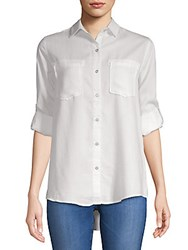 Saks Fifth Avenue Long Sleeve Button Down Shirt Pale Grey