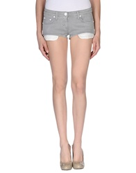 Elisabetta Franchi Jeans Denim Shorts Light Grey