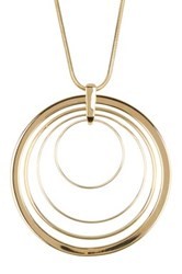 Trina Turk Long Pendant Necklace Yellow