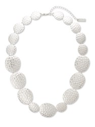 East Textured Necklace Silver