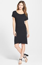 Petite Women's Caslon 'Growover' Jersey T Shirt Dress
