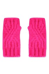 Topshop Cable Knit Handwarmers Pink