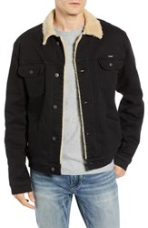 Wrangler Heritage Fleece Lined Denim Jacket Black