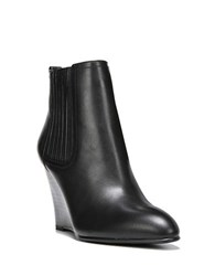 Sam Edelman Gillian Leather Wedge Ankle Boots Black