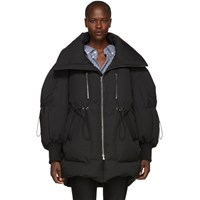 Chen Peng Black Down Bubble Jacket