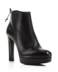 Stuart Weitzman Grandiose High Heel Platform Booties Black