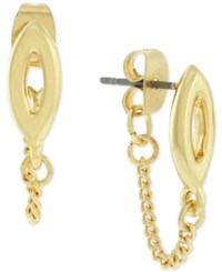 Bcbgeneration Gold Tone Chain Stud Earrings