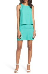 Charles Henry Women's Layered Shift Dress Teal