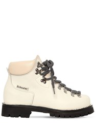 Proenza Schouler 30Mm Leather Trekking Ankle Boots White