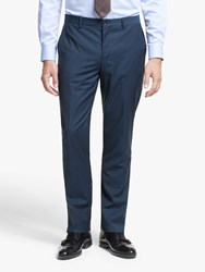 Paul Smith Wool Mohair Tailored Fit Suit Trousers Bright Navy