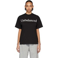 Aries Black New Balance Edition Unbalanced T Shirt