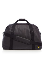 Lyle And Scott Coated Canvas Holdall Black
