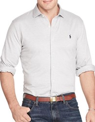 Polo Big And Tall Herringbone Knit Sport Shirt Andover Heather