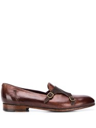 Lidfort Classic Jago Monk Shoes Brown
