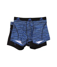 Adidas Sport Performance Climalite Graphic 2 Pack Trunk Blue Looper Black Men's Underwear