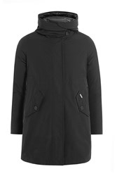 Woolrich Coat With Quilted Lining Black